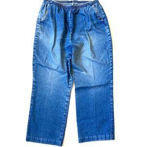 Vintage CHIC elastic denim pants / joggers 12Pet